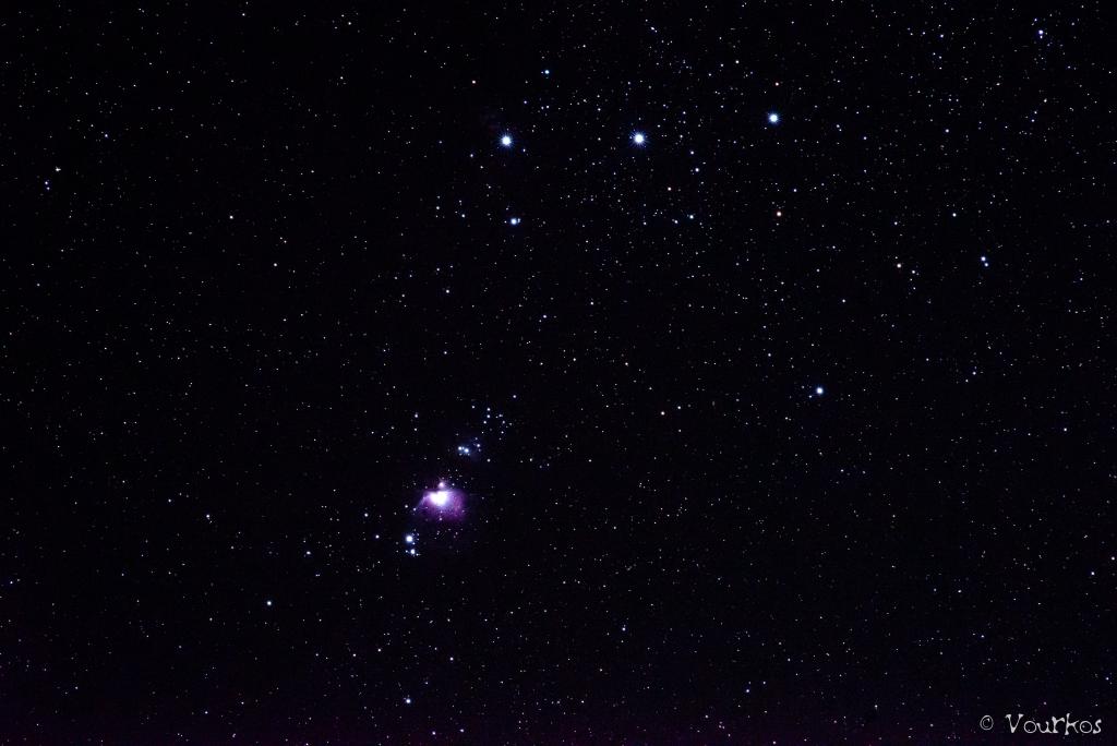 "Orion Nebula, Single shot, 90"" Nikon D610, Nikkor 180mm f2.8"